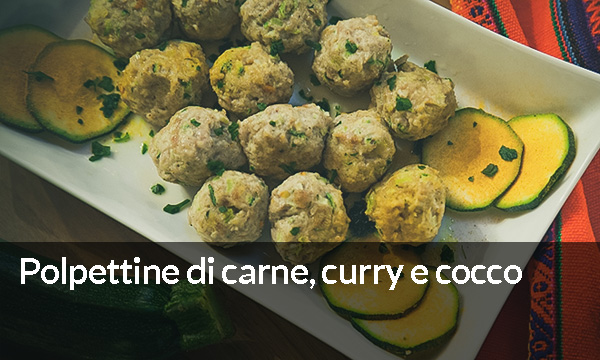 Polpettine di carne, curry e cocco